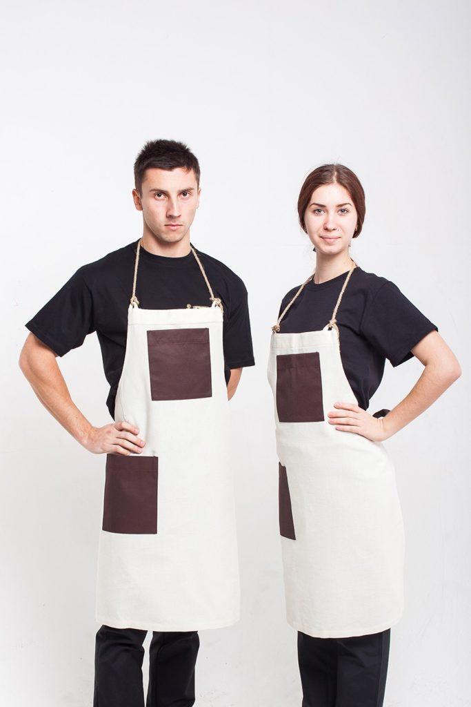 1531 Фартухи для офіціантів з натуральної бавовняної тканини - HM design a287a531e504e