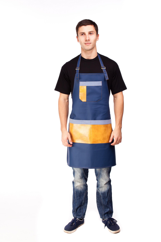 16854 Фартук для официанта,бармена, повара из качественного кожвинила на тканевой подкладке
