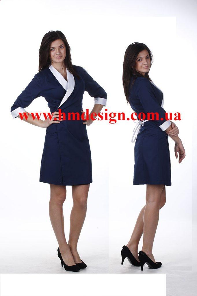 1329 Сукня-халат для покоївки - HM design f02c8cd15ebc1