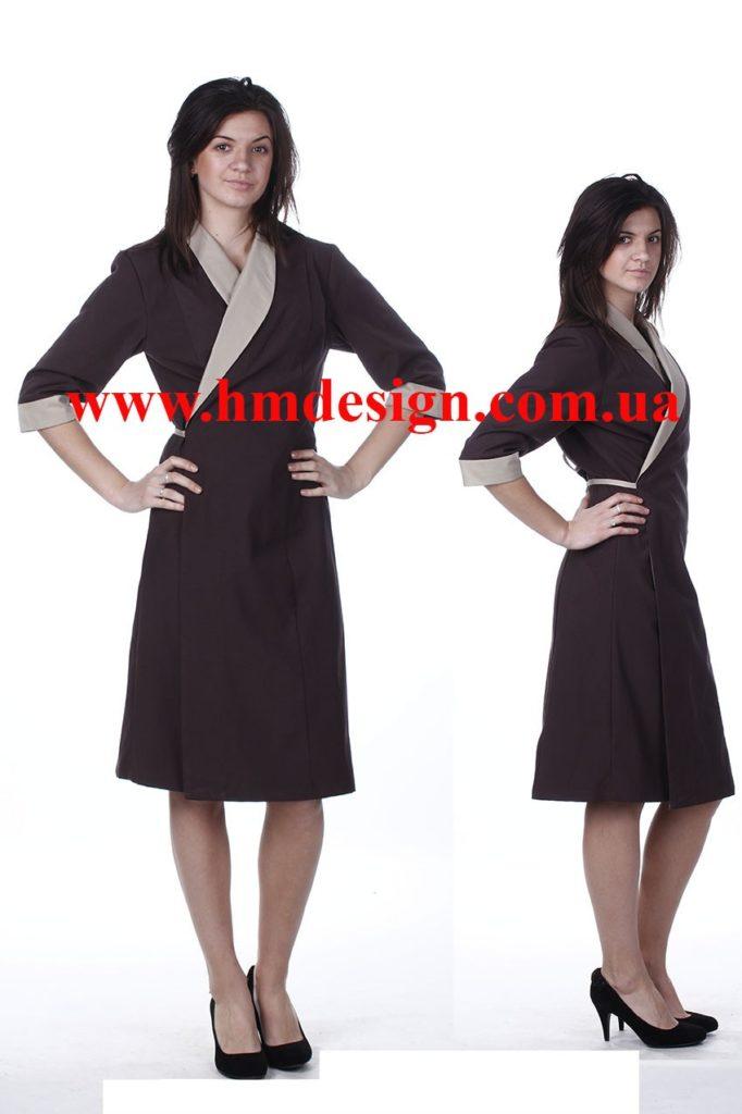 1330 Сукня-халат із запахом для покоївки. - HM design b183938b32d13