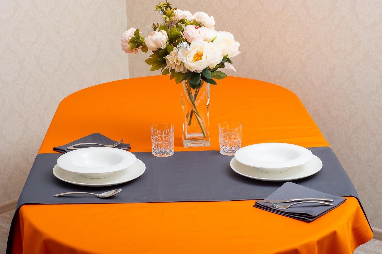 Скатертина – тефлон помаранчевий, доріжка – тефлон сірий